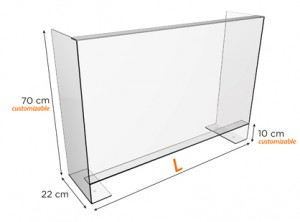 Divisor pantalla de acrílico autoportante modelo Austral