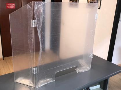 Pantalla mampara de protección serie COR-B